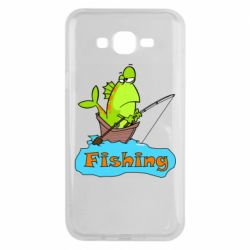 Чехол для Samsung J7 2015 Fish Fishing