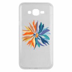 Чохол для Samsung J7 2015 Flower coat of arms of Ukraine