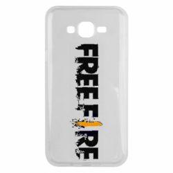 Чехол для Samsung J7 2015 Free Fire spray