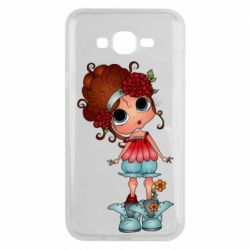 Чехол для Samsung J7 2015 Girl with big eyes
