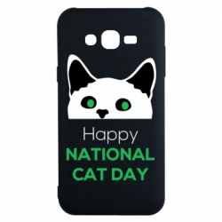 Чехол для Samsung J7 2015 Happy National Cat Day