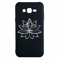 Чохол для Samsung J7 2015 Lotus yoga