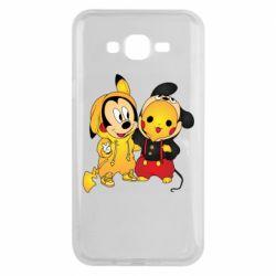 Чехол для Samsung J7 2015 Mickey and Pikachu