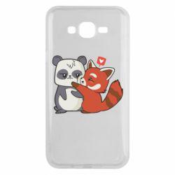 Чохол для Samsung J7 2015 Panda and fire panda