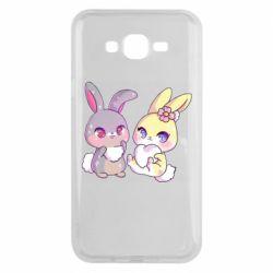 Чохол для Samsung J7 2015 Rabbits In Love