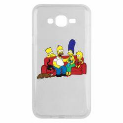 Чехол для Samsung J7 2015 Simpsons At Home