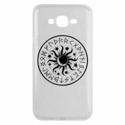 Чохол для Samsung J7 2015 Sun in runes