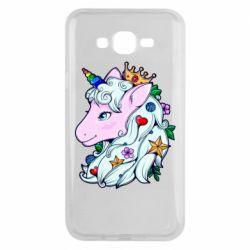 Чохол для Samsung J7 2015 Unicorn Princess