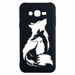 Чехол для Samsung J7 2015 Wolf And Fox