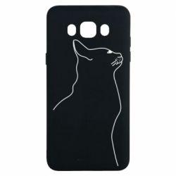 Чохол для Samsung J7 2016 Cat line