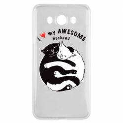 Чехол для Samsung J7 2016 Cats and love