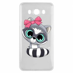 Чехол для Samsung J7 2016 Cute raccoon