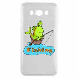 Чехол для Samsung J7 2016 Fish Fishing