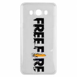 Чехол для Samsung J7 2016 Free Fire spray