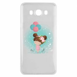Чехол для Samsung J7 2016 Girl with balloons
