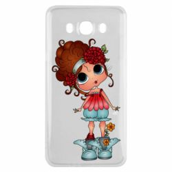 Чехол для Samsung J7 2016 Girl with big eyes