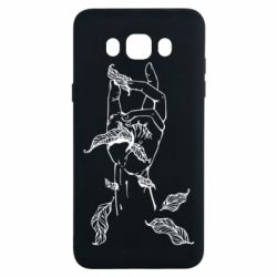 Чохол для Samsung J7 2016 Hand with leafs