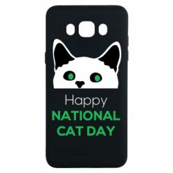 Чехол для Samsung J7 2016 Happy National Cat Day