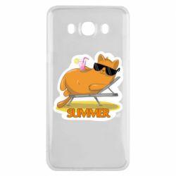 Чохол для Samsung J7 2016 Котик на пляжі