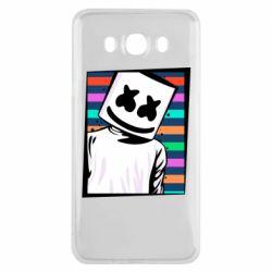 Чехол для Samsung J7 2016 Marshmello Colorful Portrait
