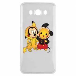 Чехол для Samsung J7 2016 Mickey and Pikachu