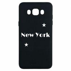 Чехол для Samsung J7 2016 New York and stars