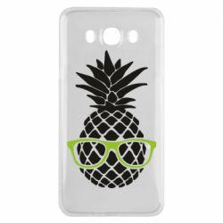 Чехол для Samsung J7 2016 Pineapple with glasses