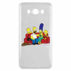 Чехол для Samsung J7 2016 Simpsons At Home