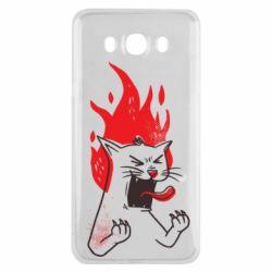 Чохол для Samsung J7 2016 The cat is mad