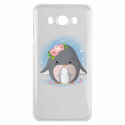 Чехол для Samsung J7 2016 Two cute penguins