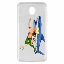 Чехол для Samsung J7 2017 Aquaman with a shark
