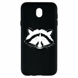 Чохол для Samsung J7 2017 Cute raccoon face