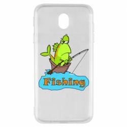 Чехол для Samsung J7 2017 Fish Fishing