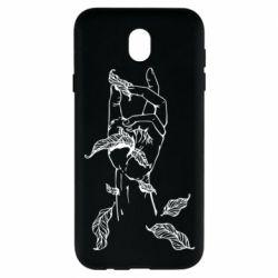 Чохол для Samsung J7 2017 Hand with leafs
