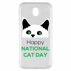 Чехол для Samsung J7 2017 Happy National Cat Day
