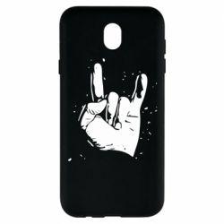 Чехол для Samsung J7 2017 HEAVY METAL ROCK