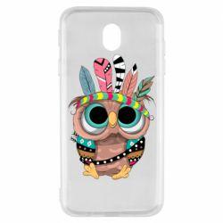 Чохол для Samsung J7 2017 Little owl with feathers