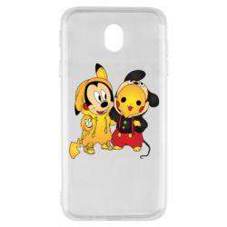 Чехол для Samsung J7 2017 Mickey and Pikachu