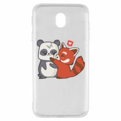 Чохол для Samsung J7 2017 Panda and fire panda
