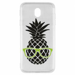 Чехол для Samsung J7 2017 Pineapple with glasses