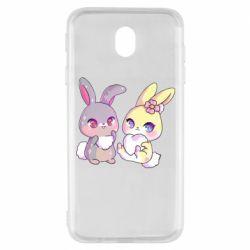 Чохол для Samsung J7 2017 Rabbits In Love