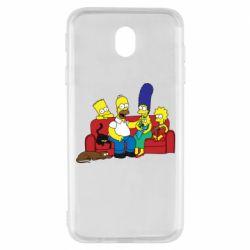 Чехол для Samsung J7 2017 Simpsons At Home