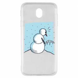 Чохол для Samsung J7 2017 Snowman. It's Cold!