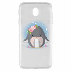 Чехол для Samsung J7 2017 Two cute penguins