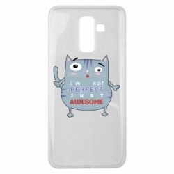 Чехол для Samsung J8 2018 Cute cat and text