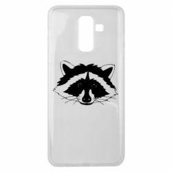 Чохол для Samsung J8 2018 Cute raccoon face