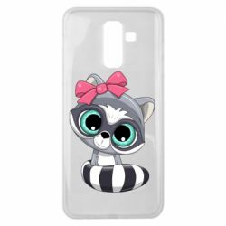 Чехол для Samsung J8 2018 Cute raccoon