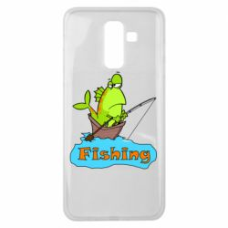 Чехол для Samsung J8 2018 Fish Fishing