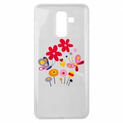 Чехол для Samsung J8 2018 Flowers and Butterflies