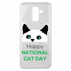 Чехол для Samsung J8 2018 Happy National Cat Day